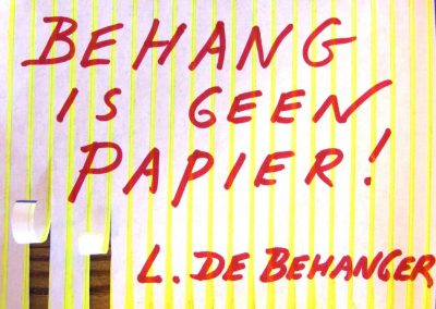 Behang is geen papier